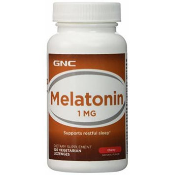 GNC Melatonin 1, Tablets, Cherry, 120 ea 1 Pack, 2 Packs or 4 Packs (4 Packs of 120 Tablets)