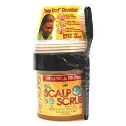 Organic Root Stimulator Scalp Scrub 6 oz. with Cup & Brush