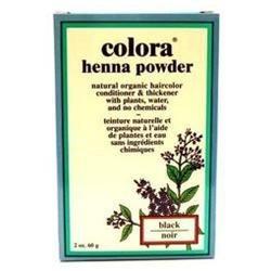 Colora - Henna Powder Natural Organic Hair Color Black - 2 oz.