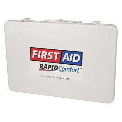 RAPID COMFORT 3JME6 First Aid Kit, Unitized, White,21Pcs,50Ppl
