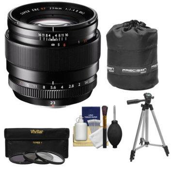 Fujifilm 23mm f/1.4 XF R Lens with 3 UV/CPL/ND8 Filters + Lens Pouch + Tripod Kit for Fuji X-A1, X-E1, X-E2, X-M1, X-Pro1 Digital Cameras