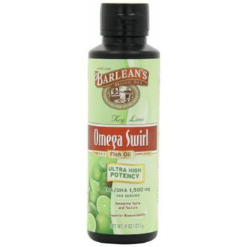 Barlean's Organic Oils Ultra High Potency Key Omega Swirl, Lime, 8 Ounce