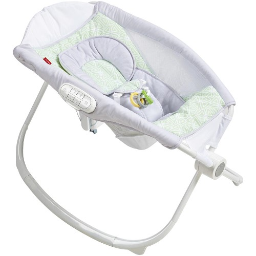 Fisher Price Fisher-Price Deluxe Newborn Auto Rock 'N Play Sleeper With Smartconnect - Isle Stone