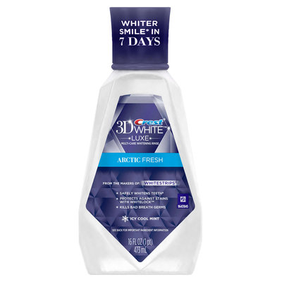 Crest 3D White Luxe Arctic Fresh Multi-Care Whitening Rinse Icy Cool Mint