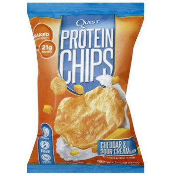 Quest Cheddar & Sour Cream Flavor Protein Chips, 1.125 oz, (Pack of 6)