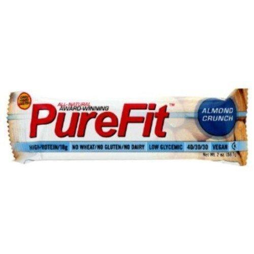 Vegan Nutrition Bar Gluten free- Peanut Butter Toffee Crunch-Box PureFit 15 Bars