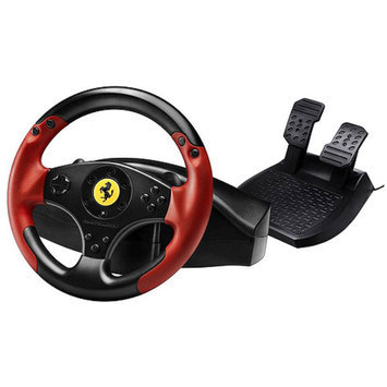 Thrustmaster Ferrari Steering Wheel With Pedals - Black/Red