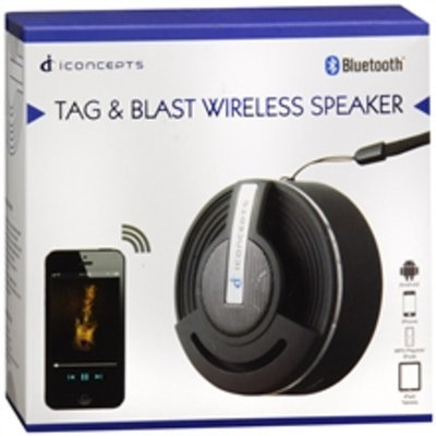 Sakar Tag & Blast Wireless Speaker Black
