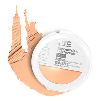 NYC New York Color Smooth Skin 2-In-1 Compact Foundation & Concealer