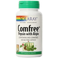 Solaray Comfree Pepsin with Algin Capsules, 418 mg, 100 Count