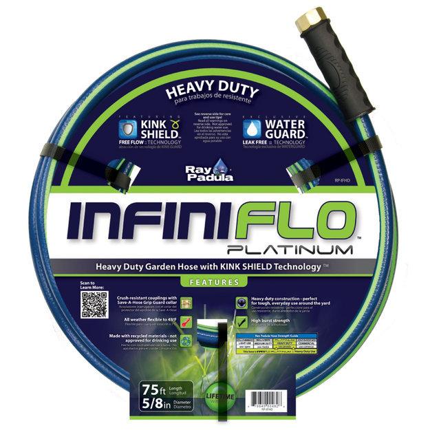 "Commerce Llc Ray Padula InfiniFlo Platinum 5/8"" x 75' Heavy-Duty Garden Hose"