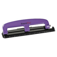 Accentra Inc. PaperPro 12 Sheet Capacity Rubber Base Compact Three-Hole Punch -