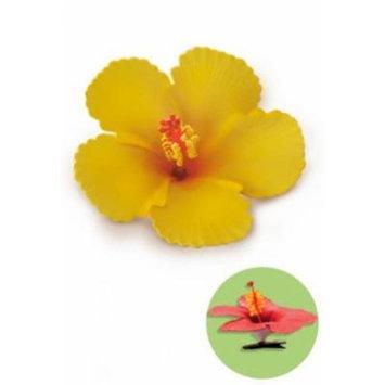 Hawaiian Hair Clip Foam Flower Hibiscus Yellow