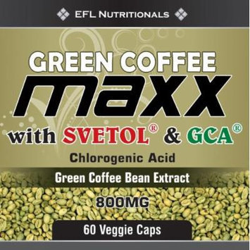 EFL Nutritionals Green Coffee Maxx with Svetol and GCA Supplement, 60 Count