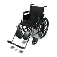 Everest & Jennings Everest Jennings Traveler Wheelchair w/ Desk Arm & Elevating Leg Rests