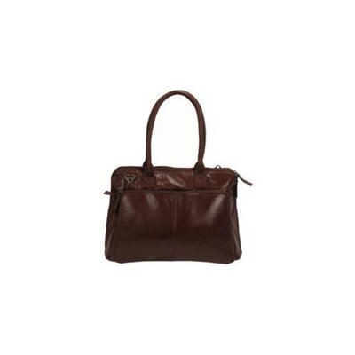 Latico Leather 7977BRN Gina Mimi Slim Porter Laptop Carry Case - Brown