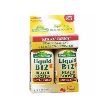 Finest Natural Liquid B12 Health Booster 2 Pack 2 ea