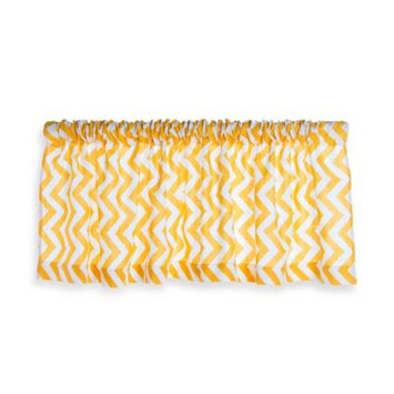 Glenna Jean Swizzle Window Valance in Yellow