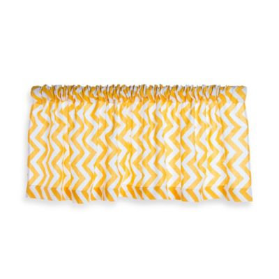 Glenna Jean Swizzle Window Valance in Yellow