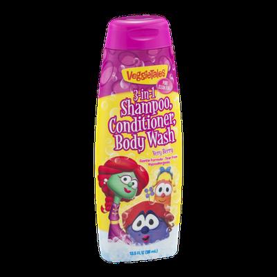 VeggieTales 3-in-1 Shampoo, Conditioner, Body Wash Very Berry