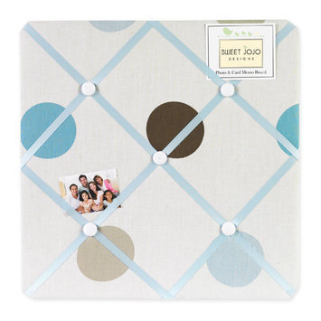 Sweet Jojo Designs Mod Dots Blue Collection Memo Board
