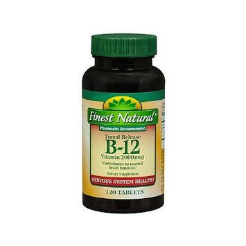 Finest Natural Vitamin B-12 2000mcg Timed Release Tablets 120 ea