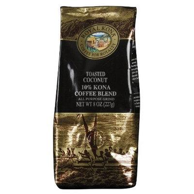 Royal Kona - Toasted Coconut - 10% Kona Coffee Blend - All Purpose Grind - 8 Oz. Bag