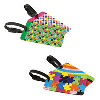 Travelon Set of 4 Luggage Tags-2 Dots Plus 2 Puzzles and Swirls Set of Luggage Tags