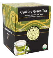 Buddha Teas Gyokuro Green 100 Percent Organic Herbal Tea 18 Bags Per Packet
