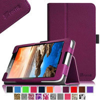 Fintie Lenovo IdeaTab A7-30 7-Inch Android Tablet Folio Case - Premium Leather Cover Stand With Stylus Holder, Purple