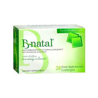 B-natal Morning Sickness Lozenges, Green Apple 28 ea