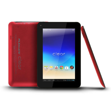 FILEMATE Filemate Clear 3FMT720BK-16G-R 7-Inch 16GB Tablet- Red