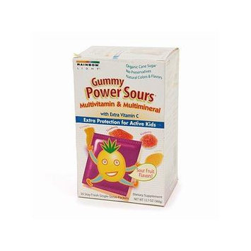 Rainbow Light Gummy Power Sours Multivitamin with Extra Vitamin C for Active Kids, Sour Fruit 30 packets