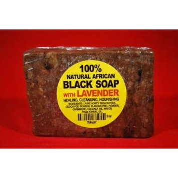 African Black Soap Bar 5oz with Lavender