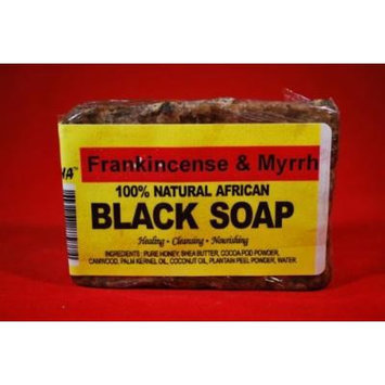 African Black Soap Bar 5oz with Frankincense & Myrrh