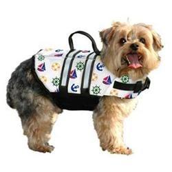 Paws Aboard PA-N1200 Nautical Dog Life Jacket