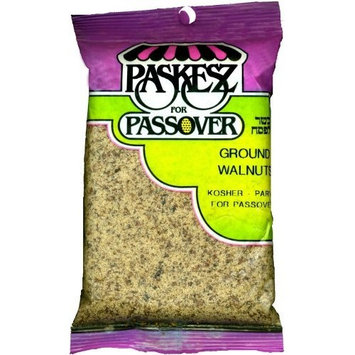 Paskesz Ground Walnuts, 4-Ounce Bags (Pack of 24)