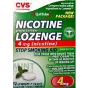 CVS Nicotine 4mg 72 Lozenges Mint.