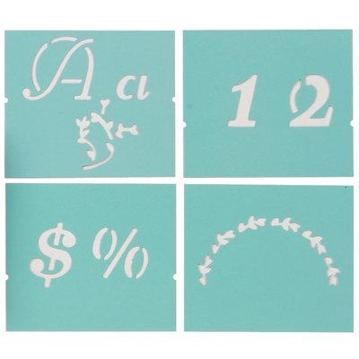 Plaid:craft Martha Stewart Crafts Martha Stewart Large Alphabet Stencil, Italic Flourish
