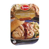 Tyson Shredded Chicken with Sauce Fully Cooked
