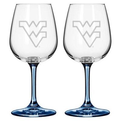NCAA West Virginia Mountaineers Boelter Brands 2 Pack Satin Etch Wine