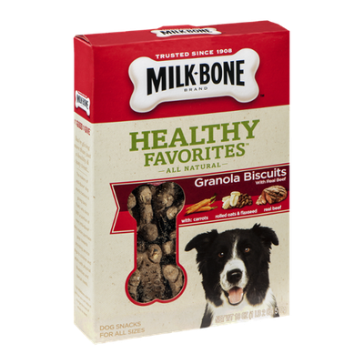 Milk-Bone Healthy Favorites Granola Biscuits with Real Beef For All Sizes