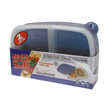 Cam Consumer Products, Inc. 2Pk Rectangle Food Storage Meals On Run