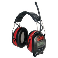 SAS Safety 6108 Digital Earmuff Hearing Protection with AM/FM Radio and MP-3 Ready