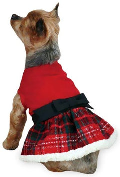 East Side Collection Yuletide Tartan Party Dress, Small/Medium