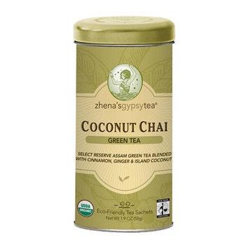 Zhena's Gypsy Tea Green Tea Sachets Coconut Chai