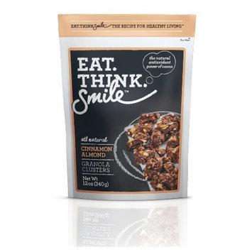 Apure Foods Eat. Think. Smile. Granola Clusters, Cinnamon Almond, 12-Ounce Pouches (Pack of 4)