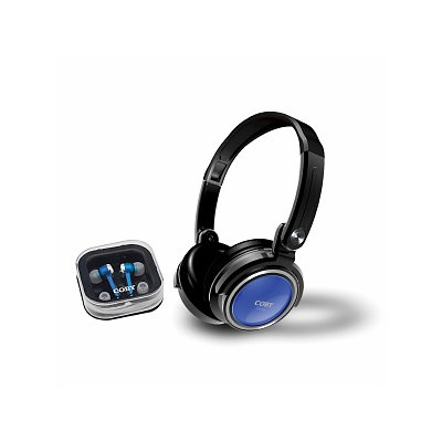 Coby Electronics Jammerz  2 in 1 Combo Deep Bass Stereo Headphones & Earbuds