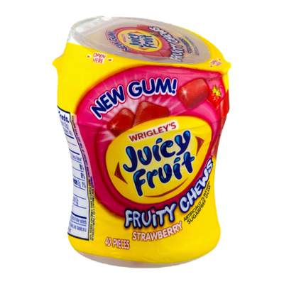 Wrigley's Juicy Fruit Fruity Chews Strawberry Gum
