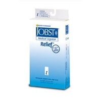 Jobst Relief 15-20 mmHg Closed Toe Thigh High Support Sock with Silicone Top Band Size: Medium, Color: Black